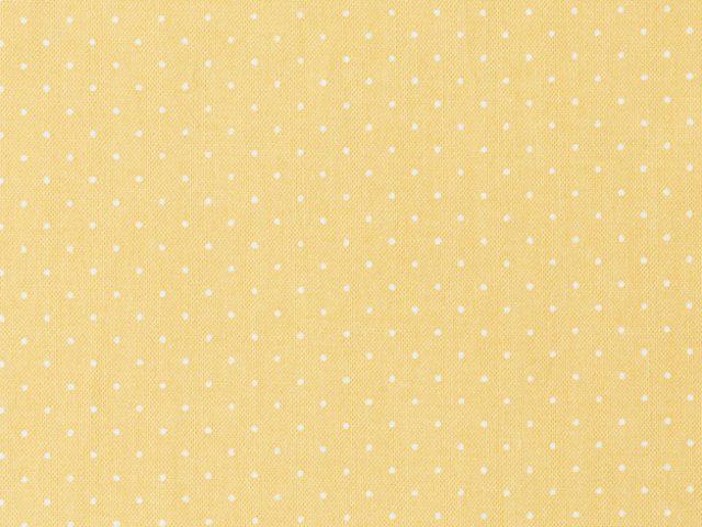 黄色地のドット柄